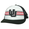 Image for Interlocking U White and Black Adjustable Snapback Hat