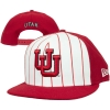Image for Interlocking U Red Pinstriped Adjustable Snapback Hat