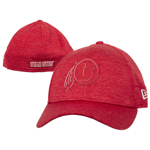 Image For Utah Utes Athletic Logo Red & White Fitted Hat