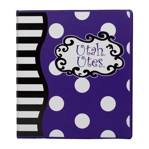 "Image For Utah Utes Designed 1"" Binder"
