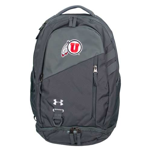 Image For Utah Utes Under Armour Athletic Logo Gray Backpack