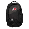 Image for Utah Utes Under Armour Athletic Logo Black Backpack