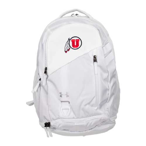 Image For Utah Utes Under Armour Athletic Logo White Backpack
