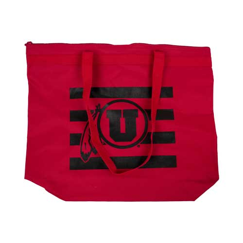 Image For Utah Utes Athletic Logo Zippered Tote Bag