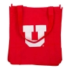 Image for Utah Utes Red Block U Reusable Shopping Tote