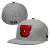 Image for Utah Utes Block U Flat Brim Fitted Hat