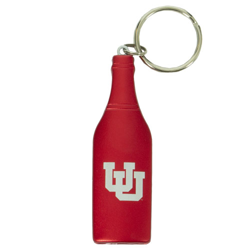 Cover Image For Utah Utes Interlocking U Keychain Wine Opener