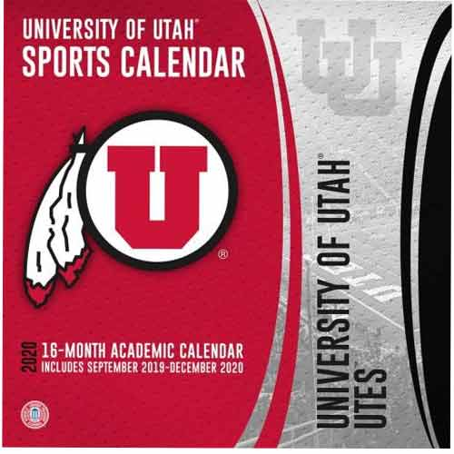 Ut 2020 Calendar Utah Utes Football 2020 Wall Calendar | Utah Red Zone