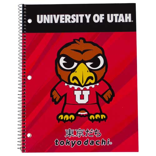 Image For Utah Utes Tokyodachi Swoop Notebook