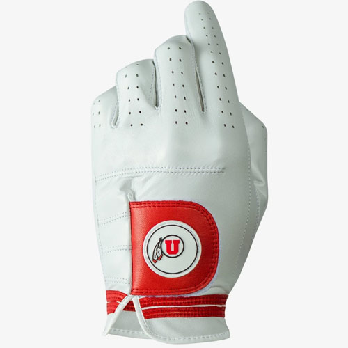 Image For Utah Utes Left Hand Asher Golf Glove