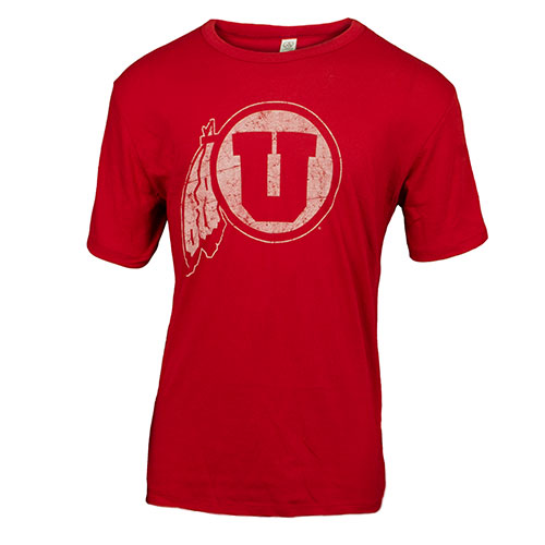 Image For Faded Utah Utes Athletic Logo T-Shirt