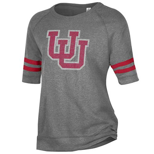Image For Utah Utes Women's Interlocking U Short Sleeve Sweatshirt