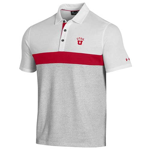 Image For Utah Utes Under Armour Mesh Polo