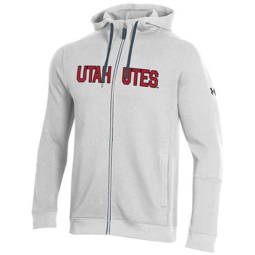 Image For Utah Utes Under Armour Full Zip Twill Hoodie