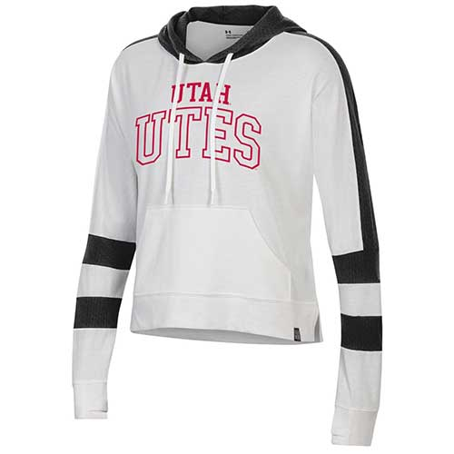 Image For Utah Utes Under Armour Women's Hooded Sweatshirt