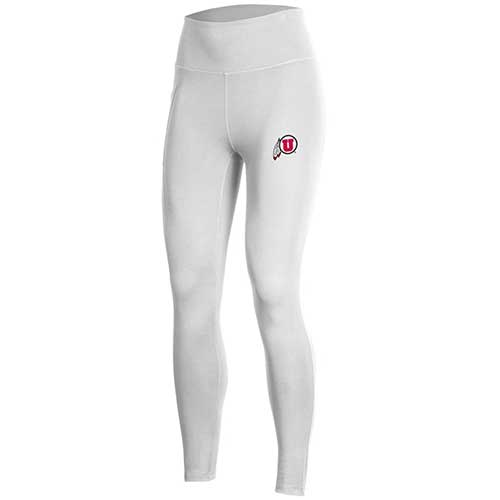 Image For Utah Utes Under Armour Athletic Logo Leggings