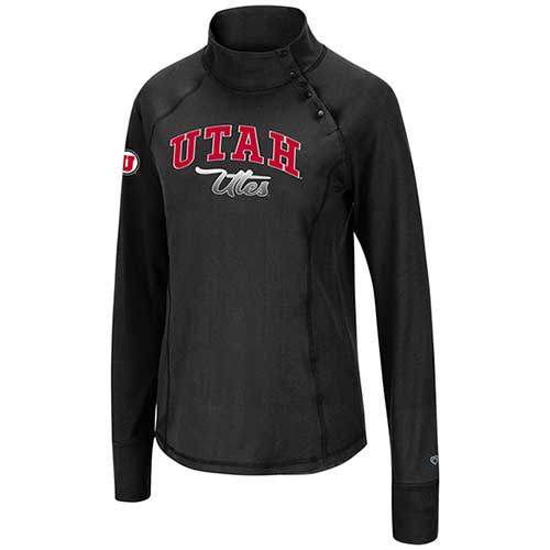Cover Image For Utah Utes Women's Snap Button Sweatshirt