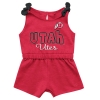 Image for Utah Utes Red Athletic Logo Infant Romper