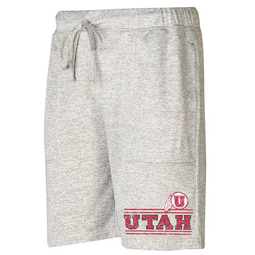 Cover Image For Utah Utes Athletic Logo Grey Shorts