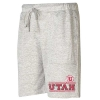 Image for Utah Utes Athletic Logo Grey Shorts