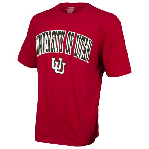 Image For University of Utah Utes Interlocking U Red T-Shirt
