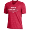 Image for Utah Utes Under Armour Women's V-Neck Football T-Shirt