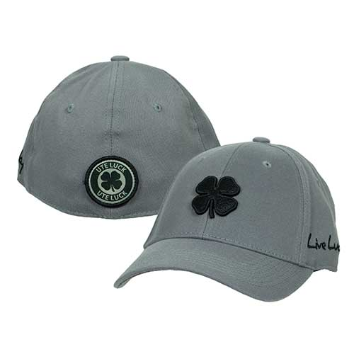Image For Utah Utes Lucky Grey Black Clover Hat