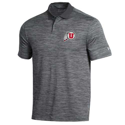 Image For Under Armour Utah Utes Athletic Logo Polo