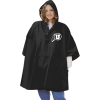 Image for Black Heavy Weight Athletic Logo Rain Poncho