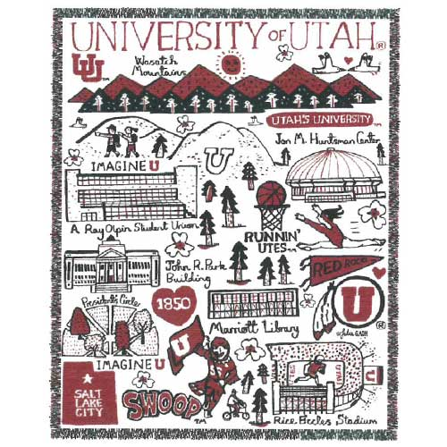 Image For Utah Utes University of Utah Knit Blanket
