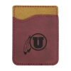 Cover Image for Utah Utes Thread Wallets Athletic Logo Leather Card Holder