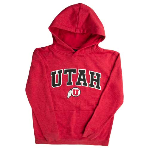 Cover Image For Utah Utes Athletic Logo Red Youth Sweatshirt