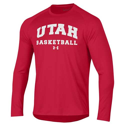 Image For Under Armour Utah Basketball Long Sleeve
