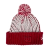 Image for Utah Utes Youth Interlocking U Red and White Pom Beanie