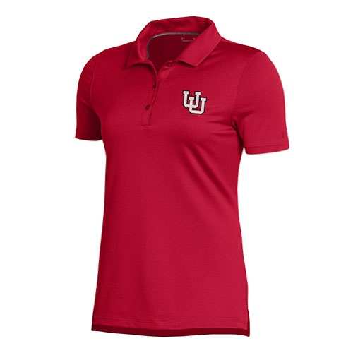 Image For Utah Utes Interlocking U Under Armour Red Polo