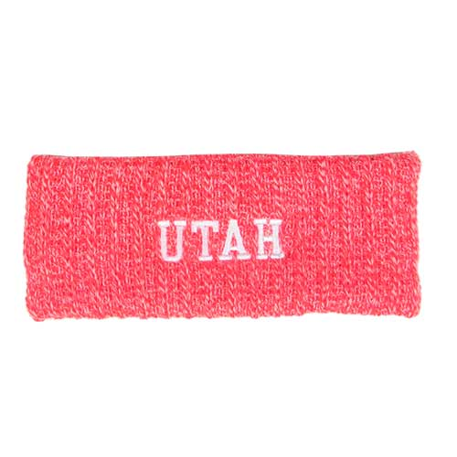 Image For Red Utah Marled Headband