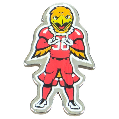 Image For Utah Utes Silver Swoop Pin