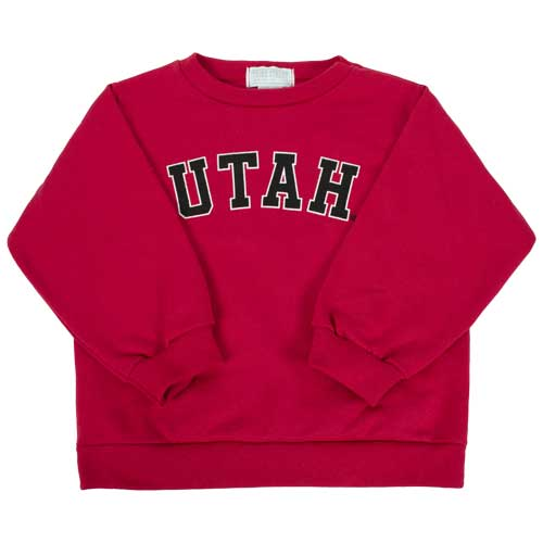 Cover Image For Utah Utes Toddler Red Crewneck