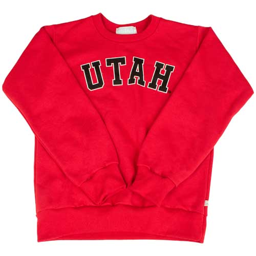 Cover Image For Utah Utes Youth Red Crewneck