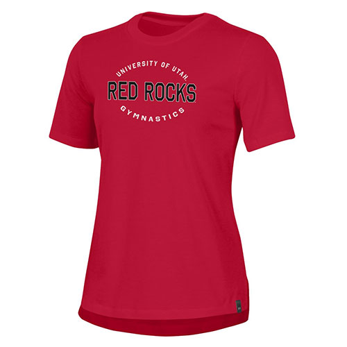 Cover Image For Under Armour Women's Red Rocks Utah Gymnastics T-Shirt