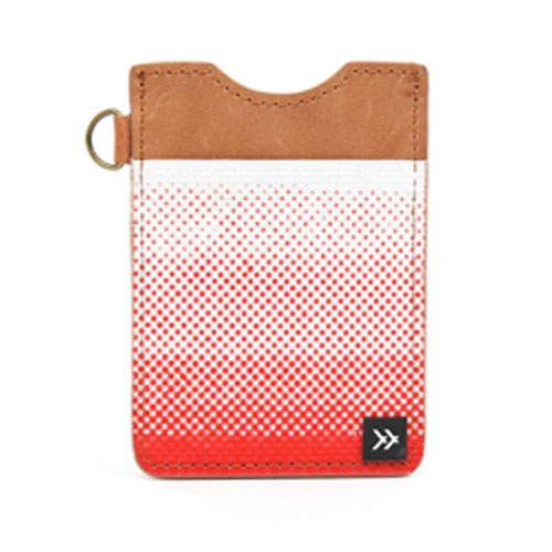 Image For Red and White Gradient Leather Wallet