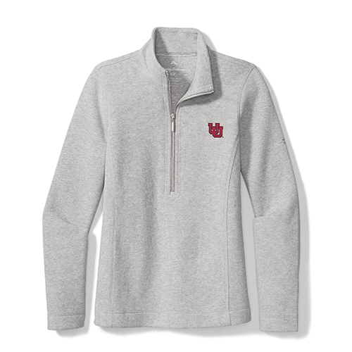 Cover Image For Utah Utes Tommy Bahama Interlocking U Half-Zip Pullover