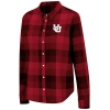 Image for Utah Utes Interlocking U Women's Long Sleeve Red Flannel