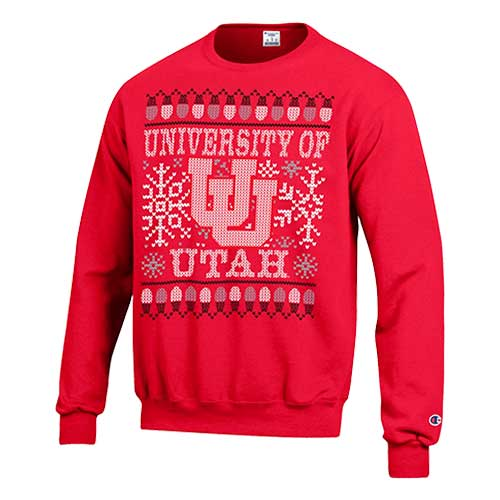 Cover Image For Utah Utes Ugly Holiday Sweater