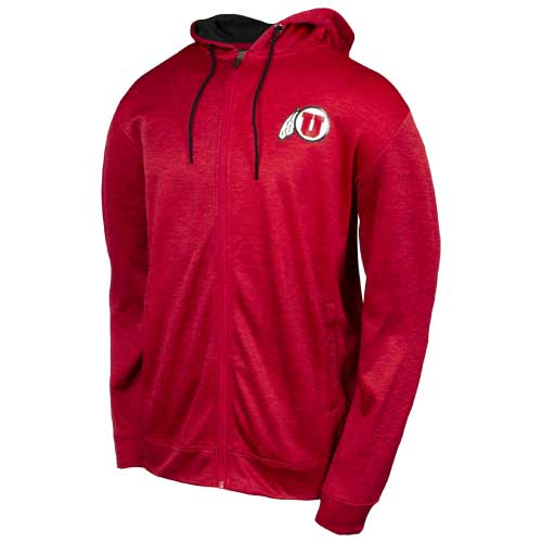 Image For Utah Utes Athletic Logo Red Hoodie