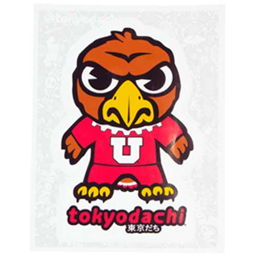 Cover Image For Utah Utes Swoop Tokyodachi Decal