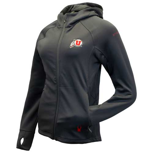 Image For Utah Utes Women's Spyder Full Zip Hooded Jacket