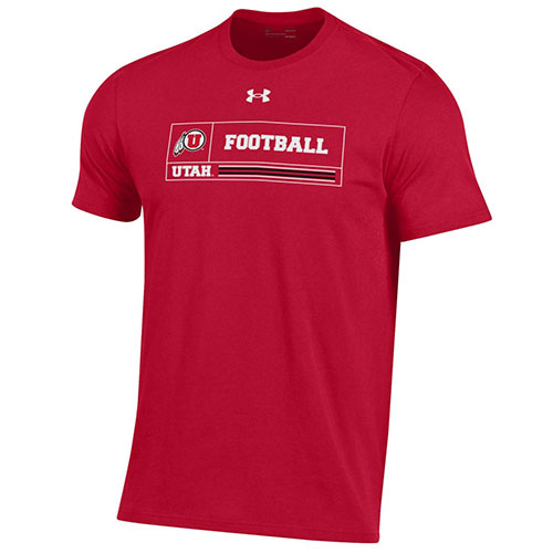 Image For Under Armour Utah Utes Athletic Logo Football Tee