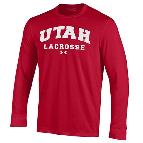 Cover Image For Under Armour Utah Lacrosse Arched Long Sleeve