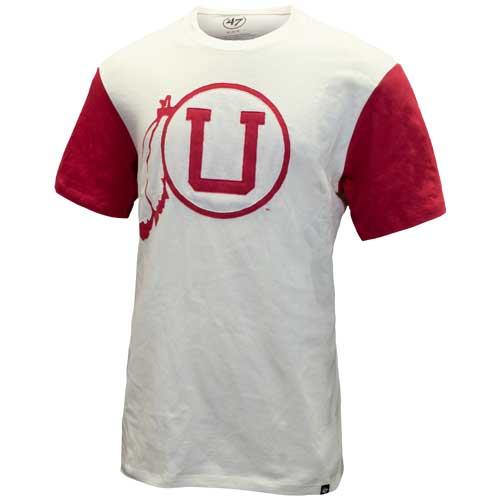Image For Utah Utes Vintage Athletic Logo Twill T-Shirt